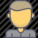 male, man, profile, user