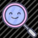 investigate, mirror, search, study, zoom icon