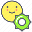 edit, face, options, settings, smile icon