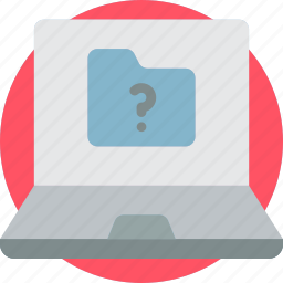 folder, laptop, screen, start, up icon