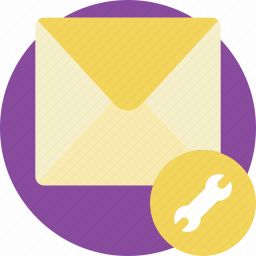 envelope, essential, mail, settings icon