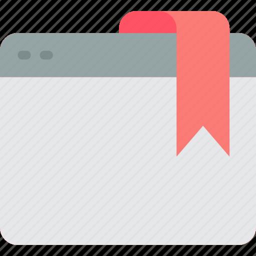bookmark, essentials, web, web page icon