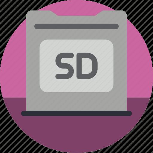 card, essential, sd icon