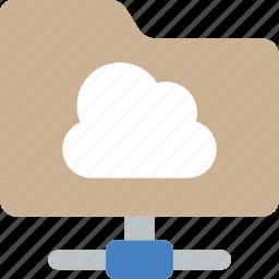 cloud, essential, folder, share icon