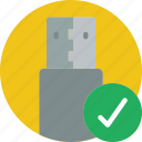 complete, essential, save, usb icon