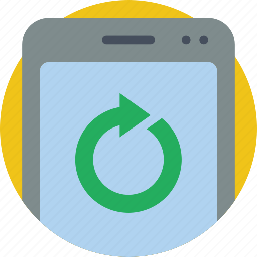 essential, phone, sync icon
