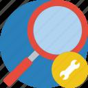essentials, search, settings icon