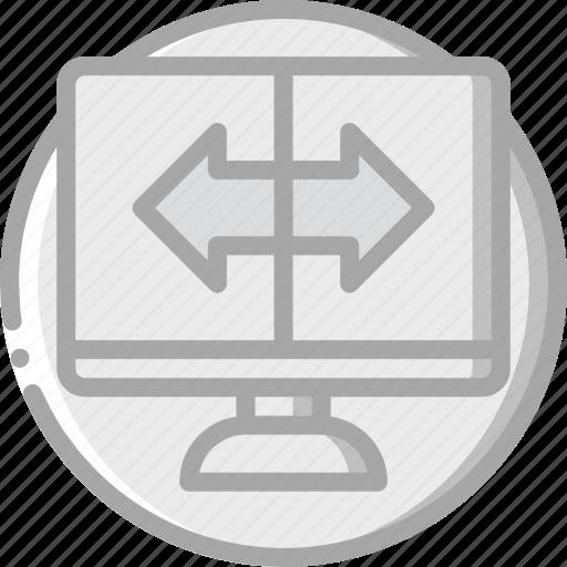 computer, essentials, screen, setup icon