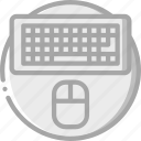computer, essentials, keyboard icon