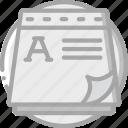 essentials, memo, note, pad, paper icon