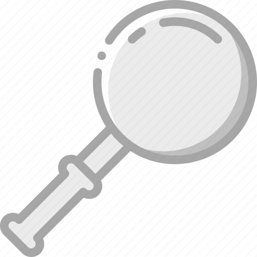 essentials, glass, magnifying, zoom icon