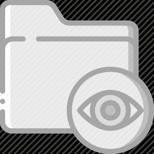 essentials, file, folder, show icon