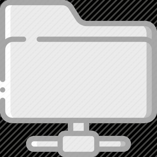 essential, folder, shared icon