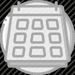 calander, date, essential, schedule icon