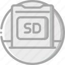 card, essential, sd icon