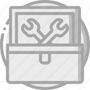 box, essential, tool icon