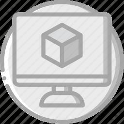 computer screen, essentials, vm, wear icon