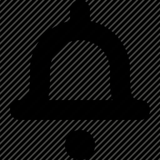 alert, bell, ding, inform, notification, notify, warning icon
