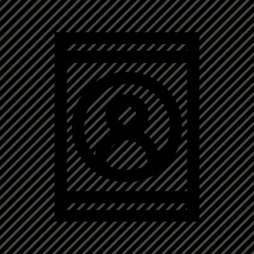 card, id, person, user icon