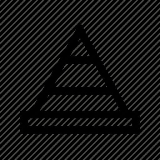 cone, sign, traffic, transport icon