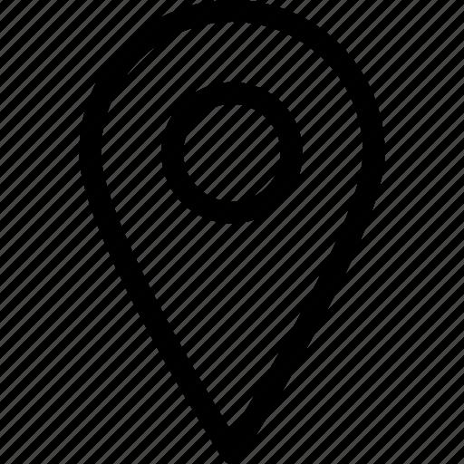 current location, finish, location, pointer icon