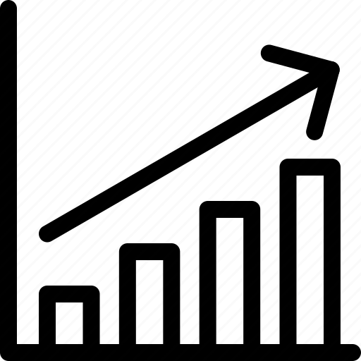 graph, growing, numbers, year figures icon