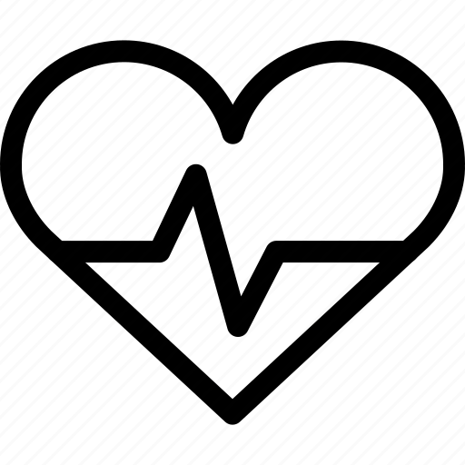 hearbeat, heart, life, love icon