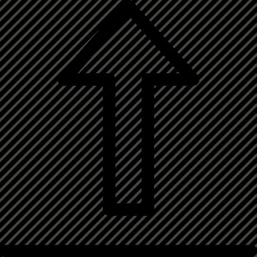 arrow, move, send, upload icon