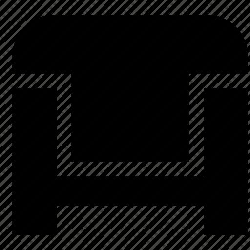 Armchair, furniture icon