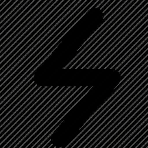 alert, lightning, voltage icon