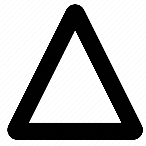road, sign, triangle icon