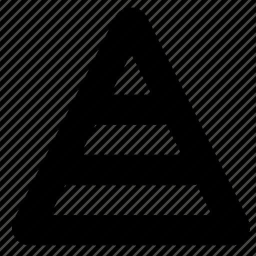 road, sign, split, triangle icon