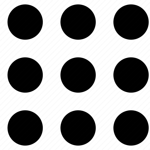 dots, menu, square icon