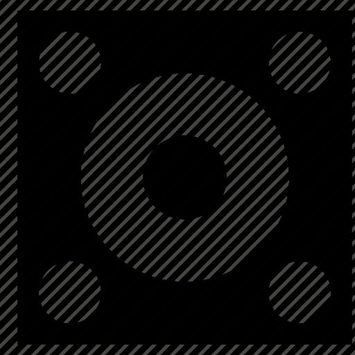 circle, disk, shoot, target icon
