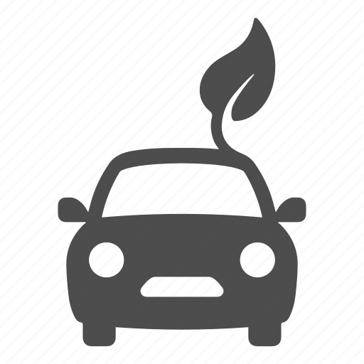 automobile, car, drive, eco, environmentally friendly, leaf, transport icon