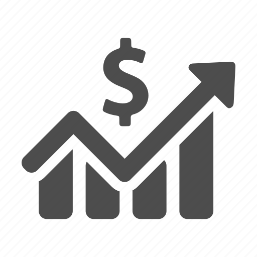 business, chart, finance, graph, income, increase, money icon