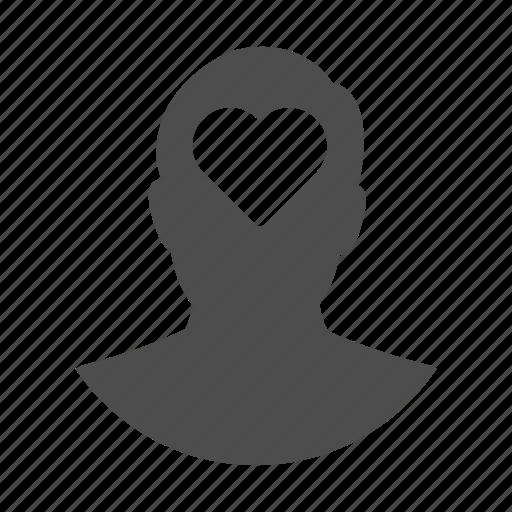 avatar, favourite, heart, like, love, person, user icon