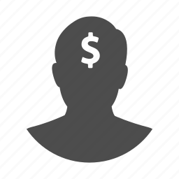 avatar, finance, idea, money, person, profile, user icon