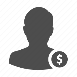 avatar, coin, employee, income, money, person, user icon