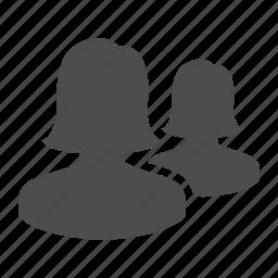 avatars, couple, group, people, team, users, women icon