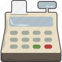 cash, checkout, register icon