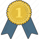 award, medal, prize, ribbon icon