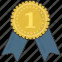 award, medal, prize, ribbon