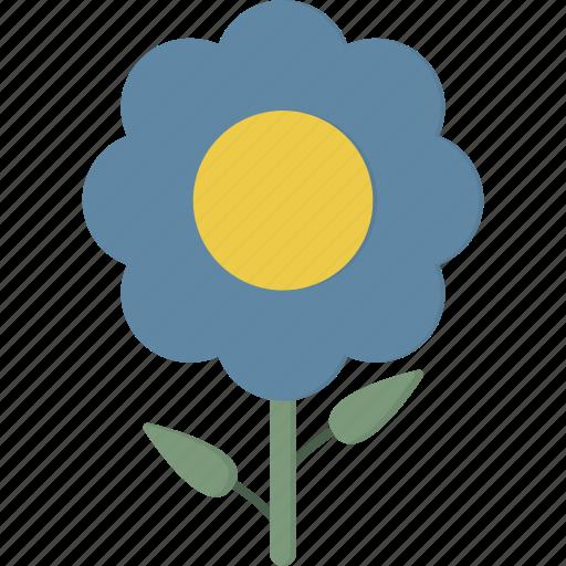 blue, flower icon