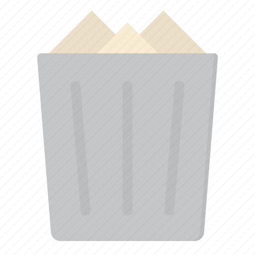 Bin, can, full, garbage, recycle, trash icon - Download on Iconfinder