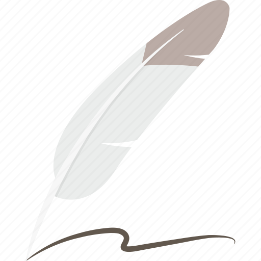 feather, pen, quill, write icon