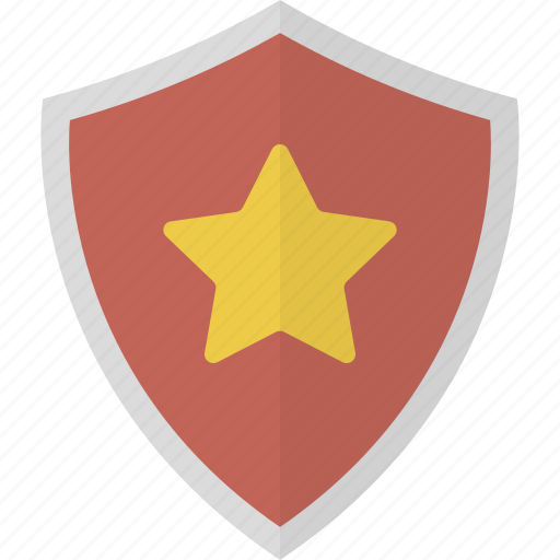 favorite, protection, security, shield, star icon
