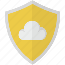 cloud, protection, safety, security, shield, storage icon