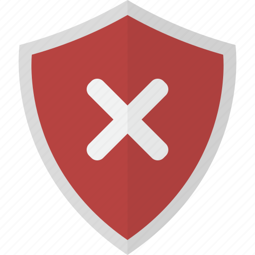 Shield, denied, fail, protection, safety, security icon - Download on Iconfinder