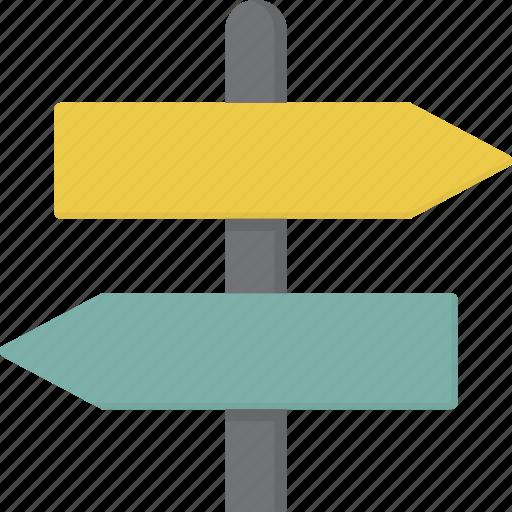 arrow, crossroad, post, sign, signpost icon